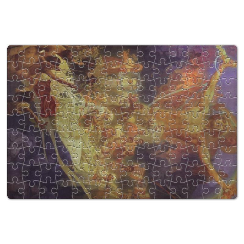 Пазл магнитный 18 x 27 (126 элементов) Printio Апофеоз истории славян (альфонс муха) цена