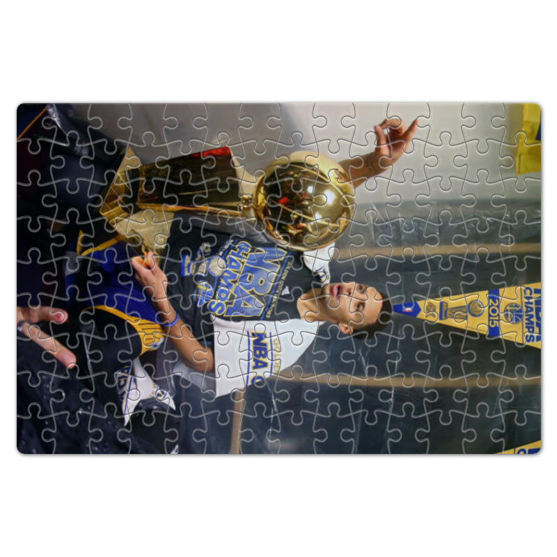 Пазл магнитный 18 x 27 (126 элементов) Printio Stephen curry фанатская атрибутика nike curry nba
