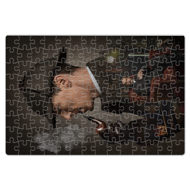 Пазл магнитный 18 x 27 (126 элементов) Printio Шерлок холмс