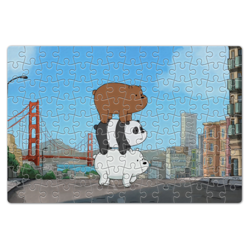 Пазл магнитный 18 x 27 (126 элементов) Printio We bare bears new replacement bare lamp bare sp 70701gc01 bulb for optoma w402 x401 uhp190 160w with 180 days warranty happybate