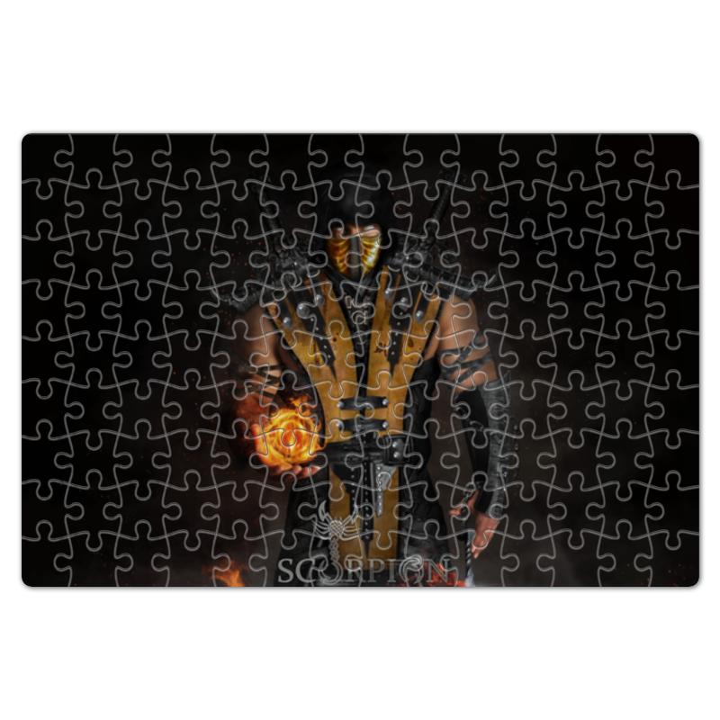 Пазл магнитный 18 x 27 (126 элементов) Printio Mortal kombat (scorpion) пазл магнитный 27 4 x 30 4 210 элементов printio mortal kombat noob saibot