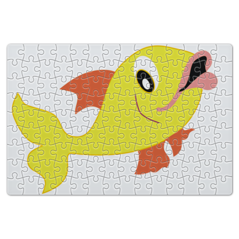 все цены на Пазл магнитный 18 x 27 (126 элементов) Printio Рыбка онлайн