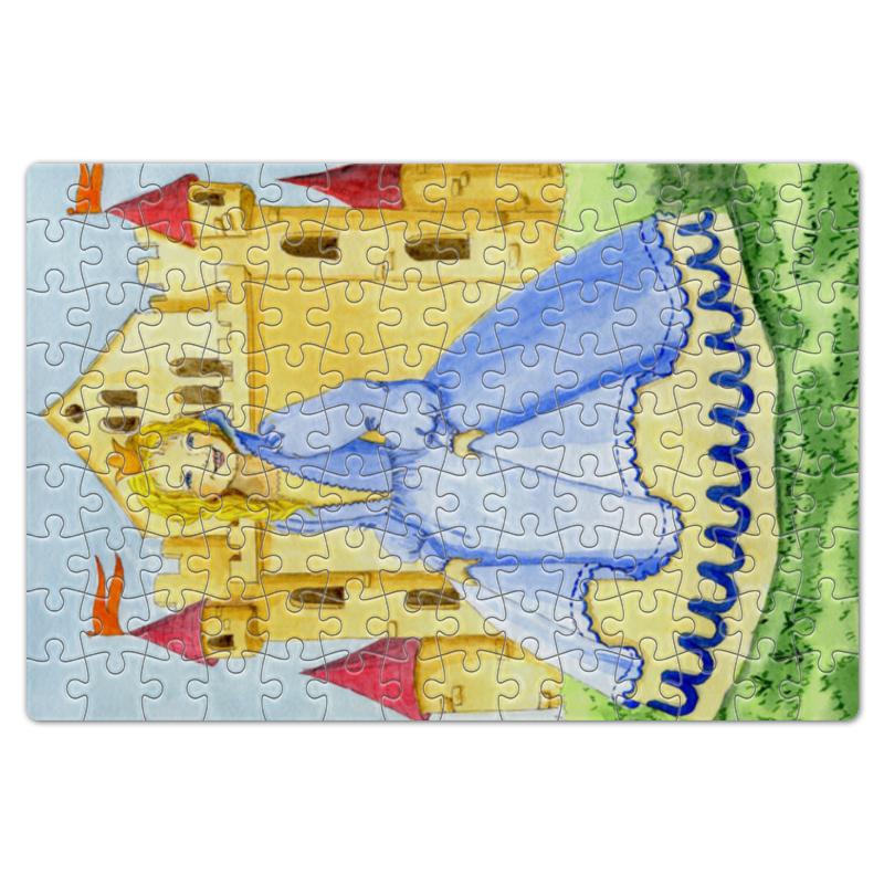 Пазл магнитный 18 x 27 (126 элементов) Printio Счастливая принцесса и ее замок