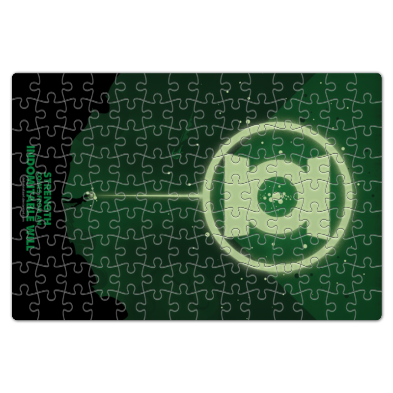 Пазл магнитный 18 x 27 (126 элементов) Printio Green lantern/зеленый фонарь чехол для iphone 6 глянцевый printio зеленый фонарь green lantern