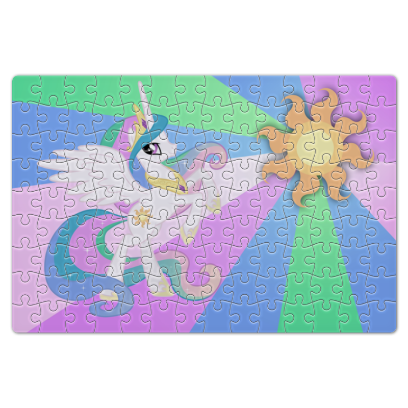 Пазл магнитный 18 x 27 (126 элементов) Printio Princess celestia color line холст 30x30 printio princess celestia color line