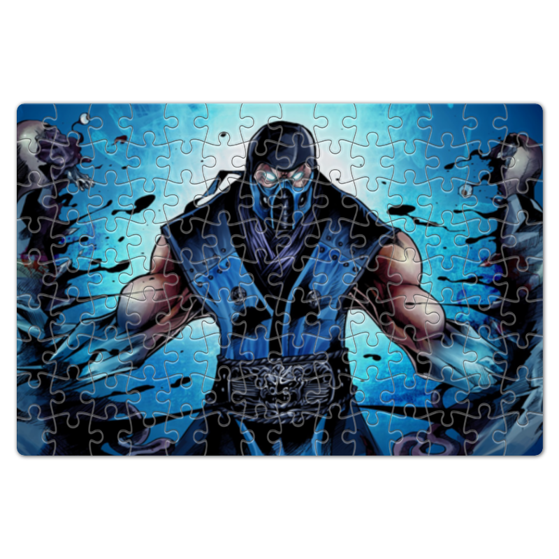 Пазл магнитный 18 x 27 (126 элементов) Printio Mortal kombat x (sub-zero) 10pcs lot db15 3rows parallel vga port hdb9 15 pin d sub male solder connector metal shell cover