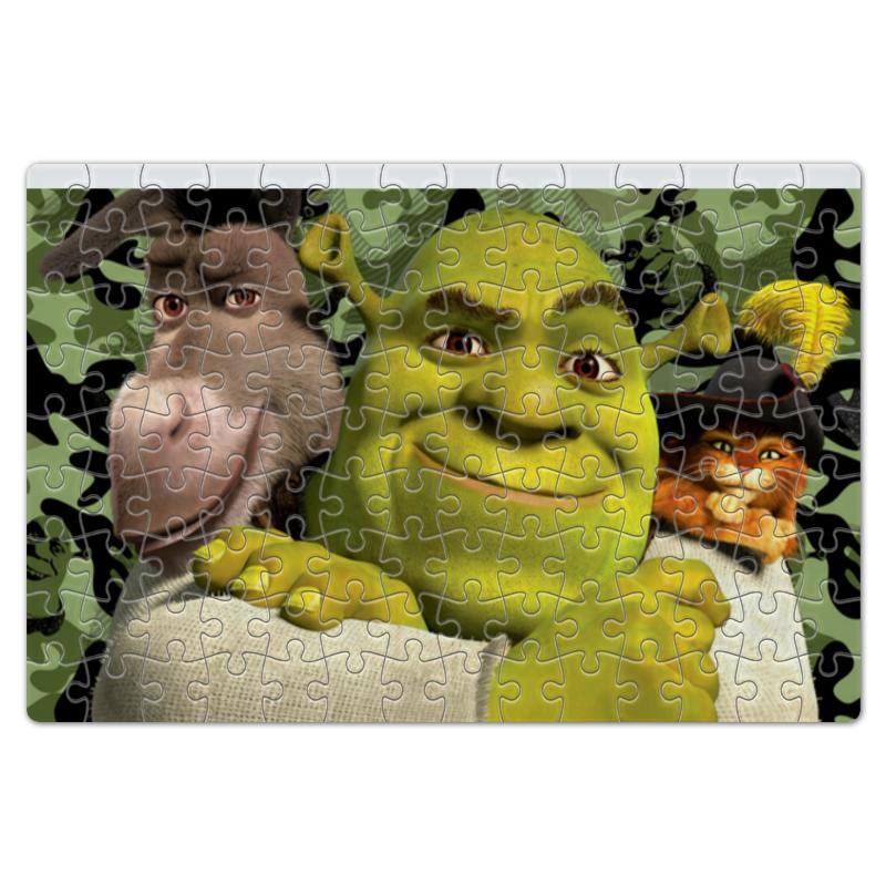 Пазл магнитный 18 x 27 (126 элементов) Printio Шрек и его друзья пазл магнитный 18 x 27 126 элементов printio главные герои мультфильма корпорация монстров