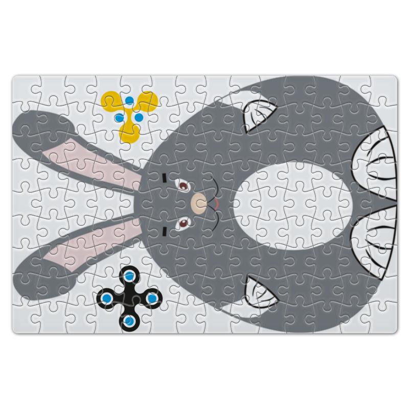 Пазл магнитный 18 x 27 (126 элементов) Printio Большой серый зайка danjue серый 19cm x 9cm x 2cm