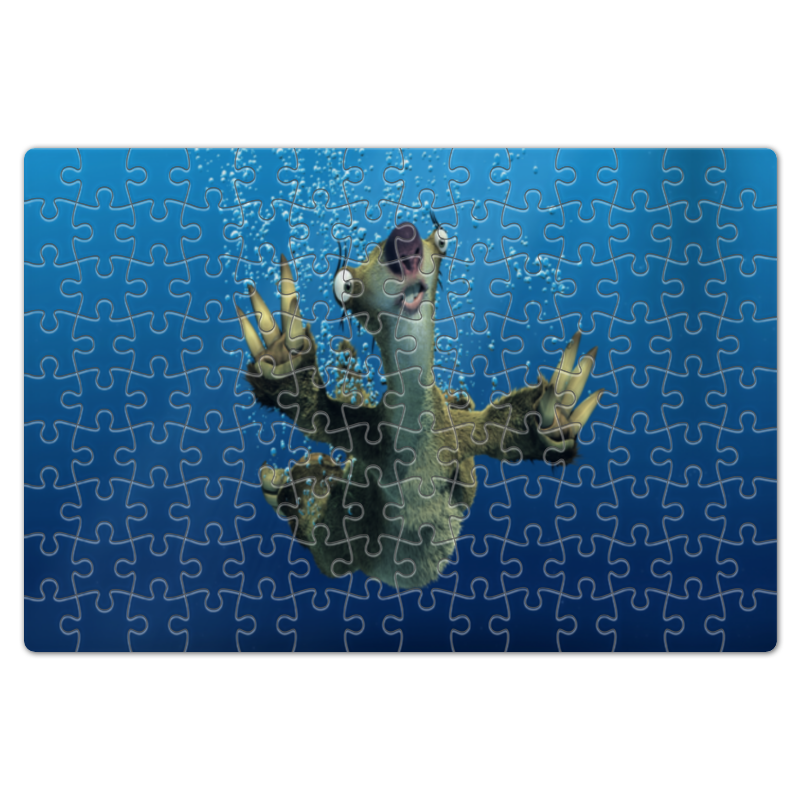 Пазл магнитный 18 x 27 (126 элементов) Printio Ледниковый период (сид под водой) свитшот print bar сид уилсон