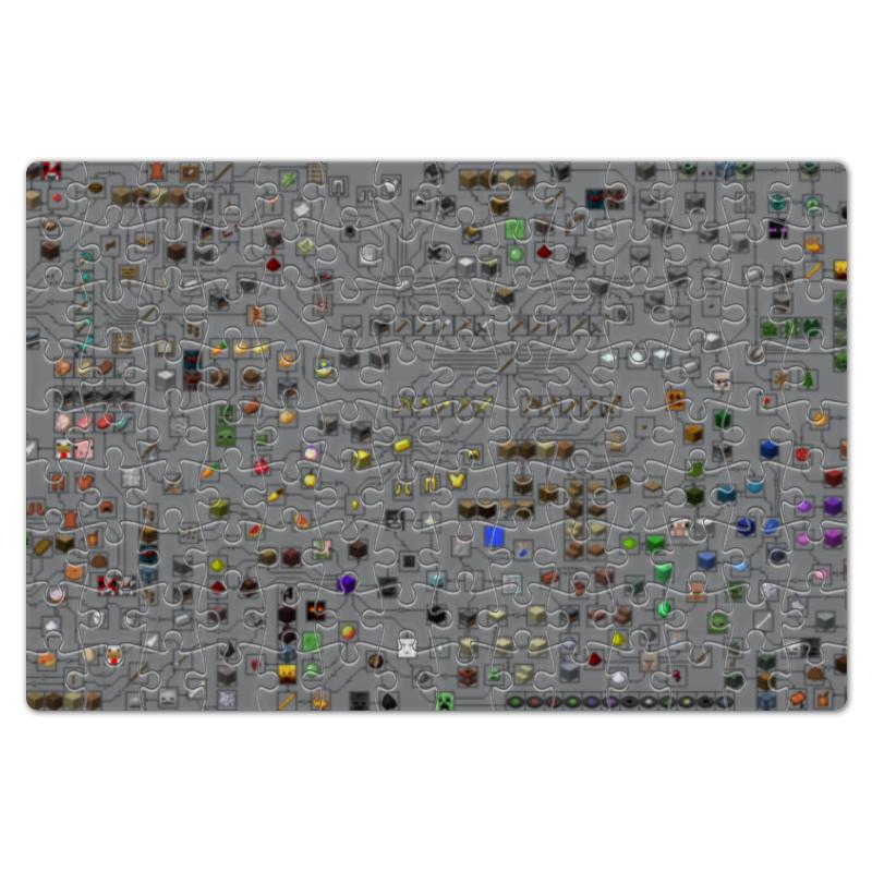 Пазл магнитный 18 x 27 (126 элементов) Printio Схема minecraft схема подключения солнечных элементов к батарее купить