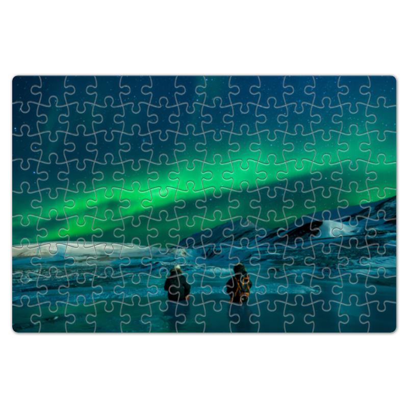 Пазл магнитный 18 x 27 (126 элементов) Printio Северное сияние