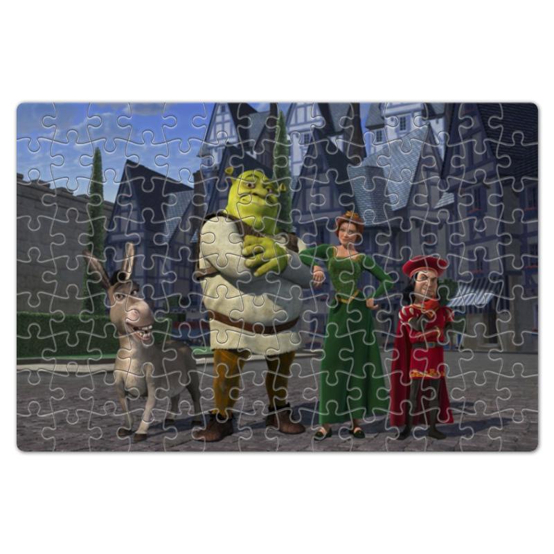 Пазл магнитный 18 x 27 (126 элементов) Printio Главные герои мультфильма шрек