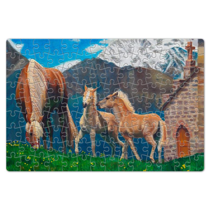 цена Пазл магнитный 18 x 27 (126 элементов) Printio Лошадь с жеребятами