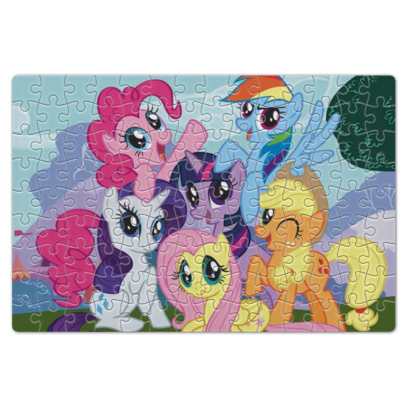 Пазл магнитный 18 x 27 (126 элементов) Printio My little pony пазл мини оригами my little pony movie радуга дэш 64эл 220х220 фигурка с магнитиком 03416