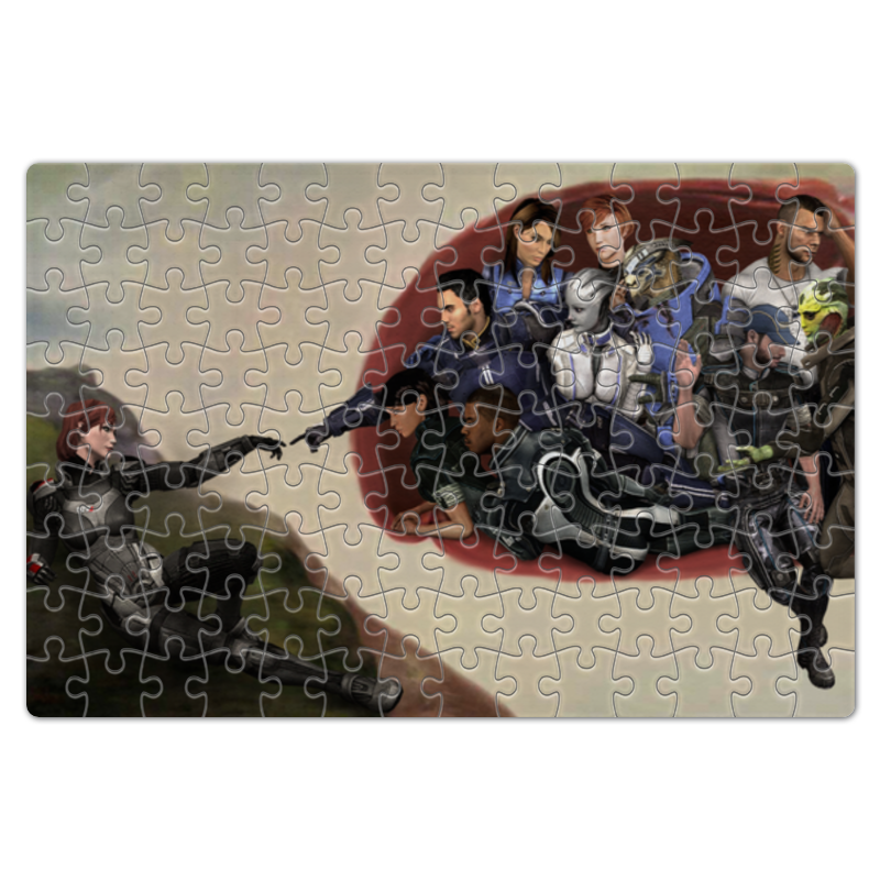 Пазл магнитный 18 x 27 (126 элементов) Printio Mass effect (shepard and team) mass effect volume 4 homeworlds
