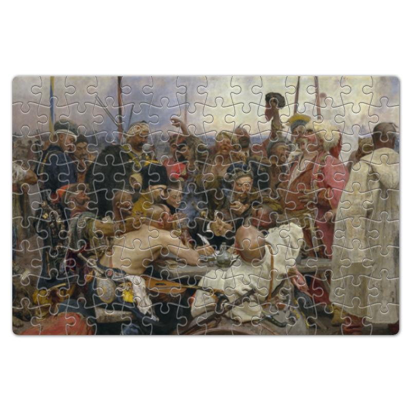 Пазл магнитный 18 x 27 (126 элементов) Printio Запорожцы (картина репина) сумка с полной запечаткой printio не ждали картина ильи репина