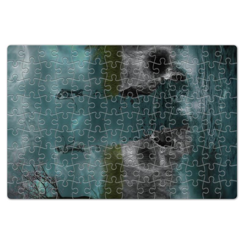 Пазл магнитный 18 x 27 (126 элементов) Printio Dark art magic bear toys мягкая игрушка медведь с заплатками в шарфе цвет коричневый 120 см