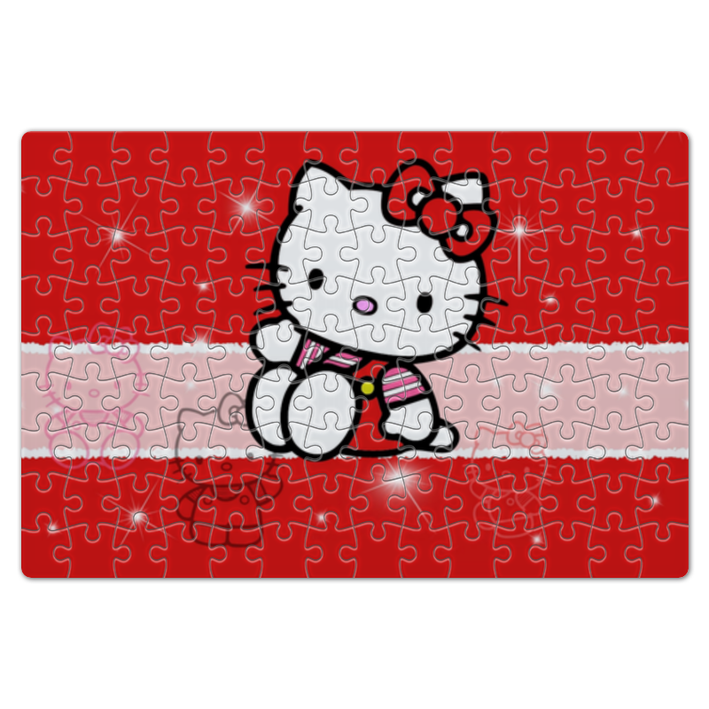 Пазл магнитный 18 x 27 (126 элементов) Printio Hello kitty с искрами cxzyking 20cm sweet new kt cat hello kitty plush toys cute hug mushroom hello kitty kt cat pillow dolls for kids baby girl gift