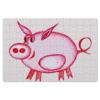 """Пазл магнитный 18 x 27 (126 элементов) """"Розовый поросенок"""" - арт, счастье, малыш, свин, розовый поросенок"""