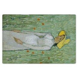 """Пазл магнитный 18 x 27 (126 элементов) """"Девушка в белом (Винсент Ван Гог)"""" - картина, природа, ван гог, живопись, постимпрессионизм"""