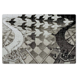 "Пазл магнитный 18 x 27 (126 элементов) ""тесселяции птиц"" - птицы, графика, эшер, тесселяция"