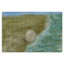 """Пазл магнитный 18 x 27 (126 элементов) """"Жемчужина"""" - море, песок, жемчуг, берег, жемчужина"""