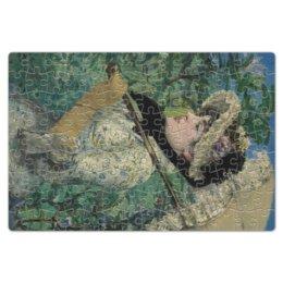 "Пазл магнитный 18 x 27 (126 элементов) ""Жанна (Весна) (картина Эдуарда Мане)"" - картина, импрессионизм, живопись, мане"