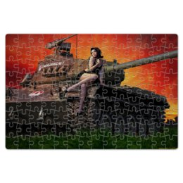 "Пазл магнитный 18 x 27 (126 элементов) ""world of tanks"" - игра, world of tanks, tank"