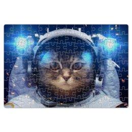 """Пазл магнитный 18 x 27 (126 элементов) """"Котосмонавт"""" - кот, космос, животное, костюм"""