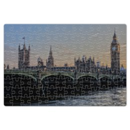 """Пазл магнитный 18 x 27 (126 элементов) """"Биг Бен"""" - англия, часы, мост, башня, биг бен"""