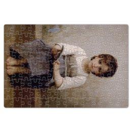 "Пазл магнитный 18 x 27 (126 элементов) ""Трудный урок (картина Вильяма Бугро)"" - картина, академизм, живопись, школа, бугро"