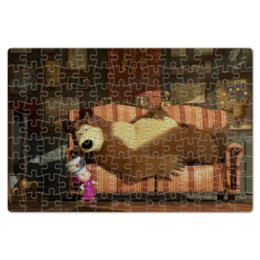 """Пазл магнитный 18 x 27 (126 элементов) """"Маша и Медведь"""" - маша и медведь"""