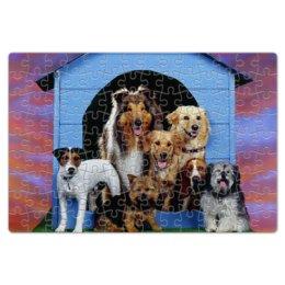 """Пазл магнитный 18 x 27 (126 элементов) """"Дом животных"""" - животные, собаки"""