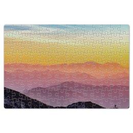 """Пазл магнитный 18 x 27 (126 элементов) """"Без названия"""" - небо, природа, закат, горы, пейзаж"""