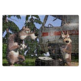 """Пазл магнитный 18 x 27 (126 элементов) """"Волки замышляют похищение"""" - волки, маша и медведь, маша"""