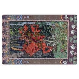 """Пазл магнитный 18 x 27 (126 элементов) """"Красный всадник (Иван Билибин)"""" - картина, сказка, живопись, богатыри, билибин"""