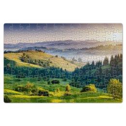 """Пазл магнитный 18 x 27 (126 элементов) """"Пейзаж"""" - арт, лес, искусство, пейзаж, поле"""