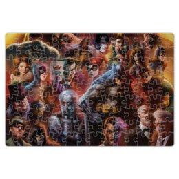 """Пазл магнитный 18 x 27 (126 элементов) """"Batman / Бэтмен"""" - арт, batman, бэтмен, темный рыцарь, dc comics"""