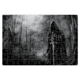 """Пазл магнитный 18 x 27 (126 элементов) """"смерть с мечом"""" - смерть, мистика, ужасы, страх, металл"""