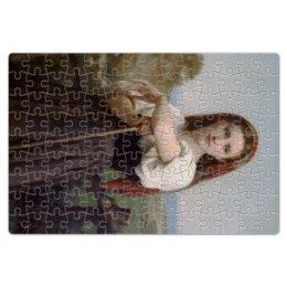 """Пазл магнитный 18 x 27 (126 элементов) """"Юная пастушка (картина Вильяма Бугро)"""" - картина, академизм, живопись, бугро, крестьянка"""