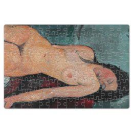 """Пазл магнитный 18 x 27 (126 элементов) """"Сидящая обнажённая (картина Модильяни, 1916)"""" - картина, живопись, ню, экспрессионизм, модильяни"""