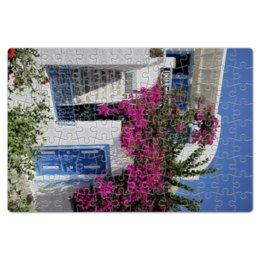 """Пазл магнитный 18 x 27 (126 элементов) """"""""Греция. Остров Санторини"""""""" - цветы, путешествия, travel, греция, санторини"""