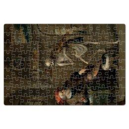 """Пазл магнитный 18 x 27 (126 элементов) """"Смерть, играющая на скрипке"""" - картина, живопись, франс франкен младший"""