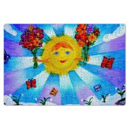 """Пазл магнитный 18 x 27 (126 элементов) """"Миру Мир!"""" - ручная работа, детский рисунок, от детей, детская работа"""