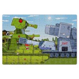 """Пазл магнитный 18 x 27 (126 элементов) """"Геранд шоп - Собери танки"""" - танки, про танки, геранд шоп, кв44, gerand"""