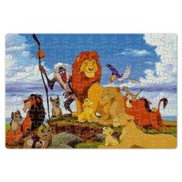 """Пазл магнитный 18 x 27 (126 элементов) """"король лев"""" - лев, гора, животные, красота, стиль"""