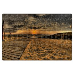 "Пазл магнитный 18 x 27 (126 элементов) ""Закат в пустыне"" - солнце, закат, пейзаж, пустыня, песок"