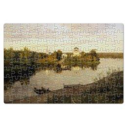 """Пазл магнитный 18 x 27 (126 элементов) """"Вечерний звон (картина Левитана)"""" - картина, левитан"""