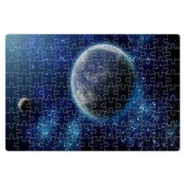 """Пазл магнитный 18 x 27 (126 элементов) """"космический """" - звезды, космос, земля, луна, пазлы"""