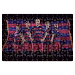 "Пазл магнитный 18 x 27 (126 элементов) ""FC Barcelona"" - барселона, испания, футбол, месси, messi"